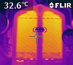 heiße Sache: IR-Strahlung aus dem Kühlergrill