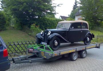 DKW F5 startklar für Garitz